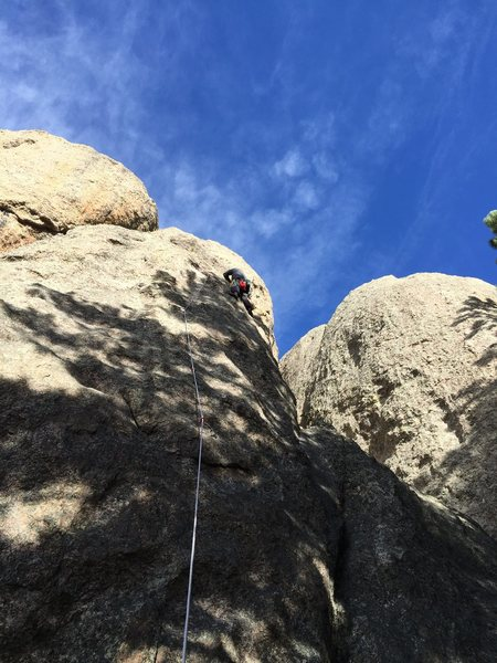 Brian leading Mystery Route.