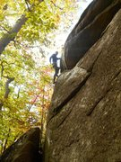 Rock Climbing Photo: Nick enjoying some positive holds down low.