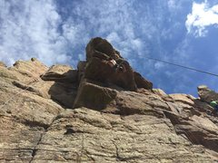 Rock Climbing Photo: Brian hanging out on Roof Route.