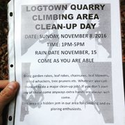 Logtown Clean-up flyer