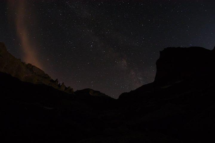 Glacier Gorge at night.