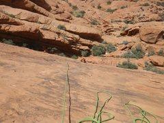 Rock Climbing Photo: Looking down Ultraman