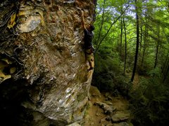 Rock Climbing Photo: Shawn Kelly on Another Doug Reed Route.