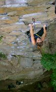 Rock Climbing Photo: Bailey Crawford on the juggy finish of A Brief His...
