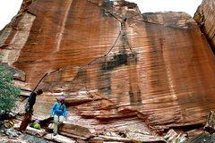 Rock Climbing Photo: Yin and Yang Cliff