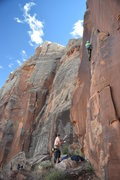 Rock Climbing Photo: most of the way up. make sure you have adequate pr...