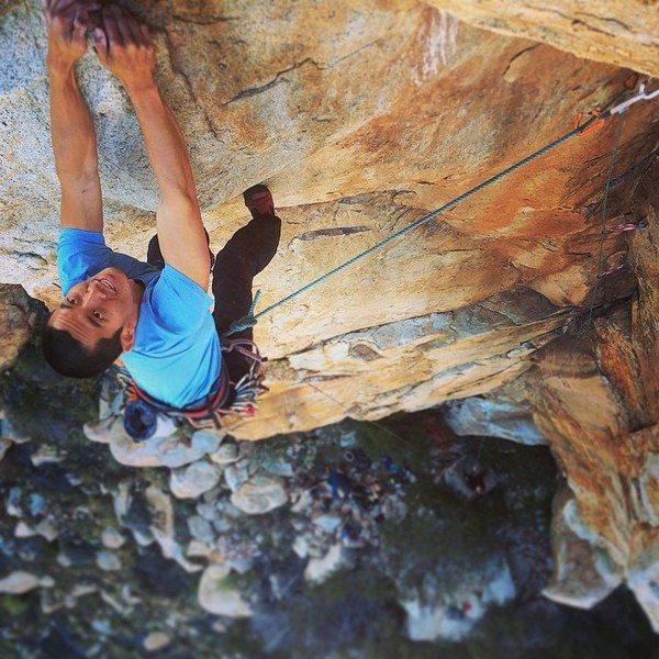 Rock Climbing Photo: Ryan King on the Tan Man Corner.