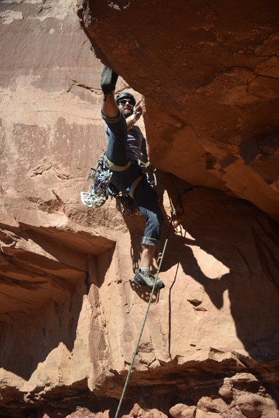 Rock Climbing Photo: Splits before splitter on a funky start.