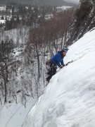 Rock Climbing Photo: Chris Knapp topping out the first pitch.