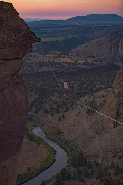 "Rock Climbing Photo: Ari Delashmutt on the ""monkey boy"" highl..."