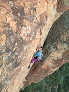 Rock Climbing Photo: Getting thin up top Sunday Stroll.