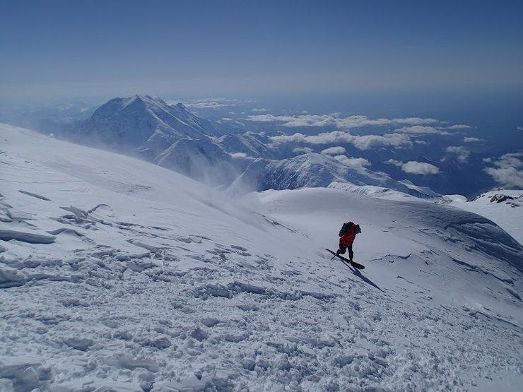 snowboarding at 20,000 feet