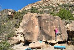 Rock Climbing Photo: Leah on the South Slab.