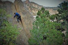 Rock Climbing Photo: Rusty keepin his cool on the highball