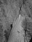 Rock Climbing Photo: Maleea posted at the top of the flying buttress.
