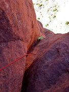 Rock Climbing Photo: The final off-width section and best part of the r...