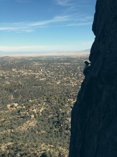 Rock Climbing Photo: Flynn on Cherry Ball (5.8 PG13) This route is the ...