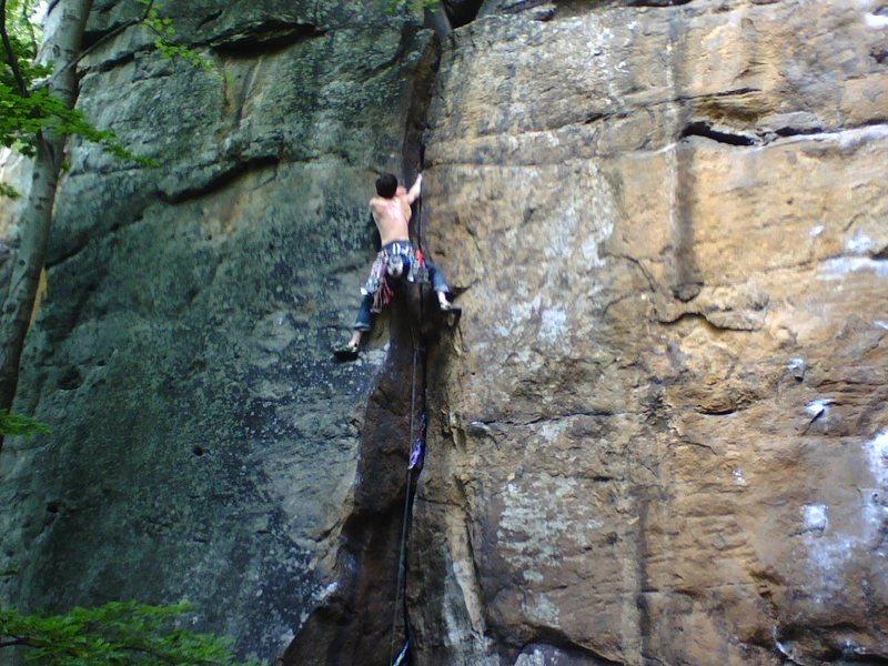 Rock Climbing Photo: Fall 2004 ascent.