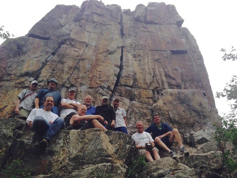 Perry-Mansfield Boys Camp held a 50 year reunion last summer (2014). Had a great time visiting Butcherknife again. Some of these guys were ages 10-15 when we climbed here in the early '60s.