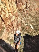 Rock Climbing Photo: Maleea enjoying a great day and belay!