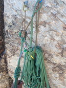 Rock Climbing Photo: A classy belay set up for the sling craft nerds ou...