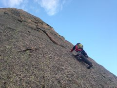 Rock Climbing Photo: Mike Elges leading the .10c variation. A must do i...