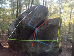 Rock Climbing Photo: Spiderman Routes - Spiderman Crack(red), Spiderman...