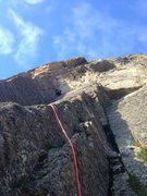 Rock Climbing Photo: Colin Wann leads the second pitch.