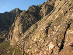 Rock Climbing Photo: Grassy ledges start.