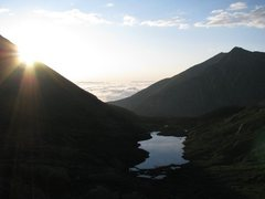 Rock Climbing Photo: Sunrise looking back toward campsites from the app...