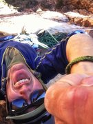 Rock Climbing Photo: Obnoxious selfie on Ginger Cracks in Red Rocks NV