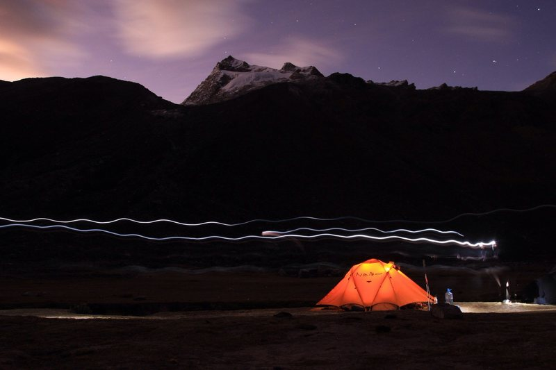 Base Camp in the Ishinca Valley, Cordillera Blanca Peru, 2014
