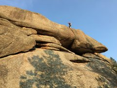 Rock Climbing Photo: On top a da Gnome Dome... you can see this side of...