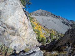 Rock Climbing Photo: Myself leading Bulging Crack.