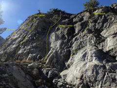 Rock Climbing Photo: The Upper Tier routes.