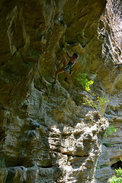 Rock Climbing Photo: Bailey Crawford on jugs.