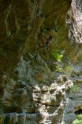 Rock Climbing Photo: Bailey Crawford on jugs.