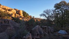 Rock Climbing Photo: I took this photo at campsite 35. You can see part...