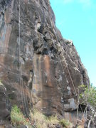 Rock Climbing Photo: Oahu, Hawaii. Strings allow one to pull top rope t...