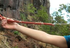 Rock Climbing Photo: How to attach resident strings to personal top rop...