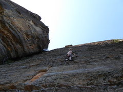 Rock Climbing Photo: Blue Mountains, Australia. Phil leads on ironstone...