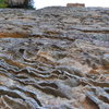 Ironstone in Blue Mountains, Australia.<br> Sandstone impregnated with iron bearing fluids. Great holds.
