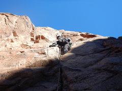Rock Climbing Photo: Leading up Demonstrator