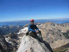 Rock Climbing Photo: Topping out Torre Principal, Frey, Argentina
