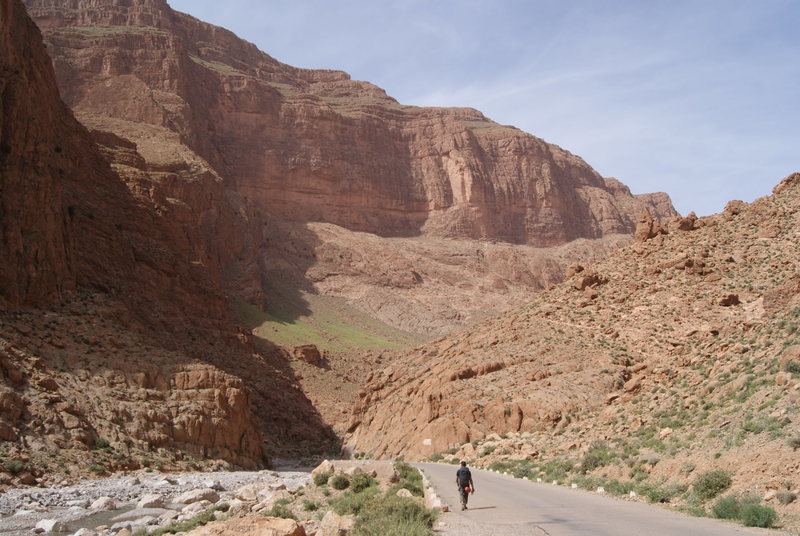 Rock Climbing Photo: Walking to teh crag, Todra Gorge, Morocco