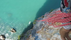 Rock Climbing Photo: Sport Multi Pitching over the ocean, Ao Nang Tower...