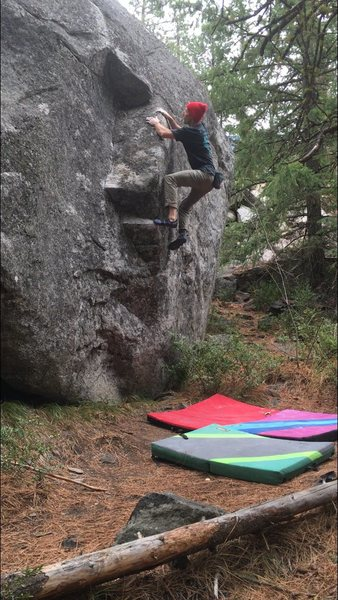 """The """"spanky"""" beta... This boulder is great both ways! Highly recommend doing both when you visit."""