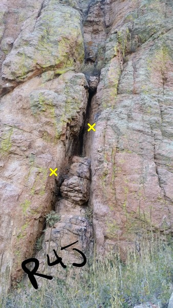 Rock Climbing Photo: Rocks for Jocks starts, bottom two bolts shown in ...
