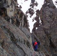 Rock Climbing Photo: Climbing the South Tooth