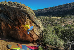 Rock Climbing Photo: At what I thought was the second crux of Bring You...